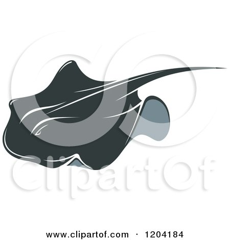 Clipart of a Swimming Stingray Fish - Royalty Free Vector Illustration by Vector Tradition SM