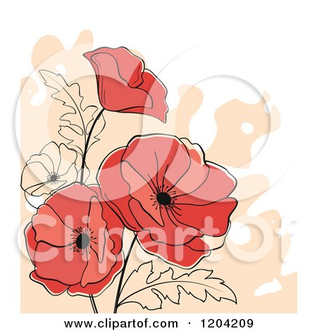 Royalty-Free (RF) Clipart of Poppies, Illustrations, Vector ...