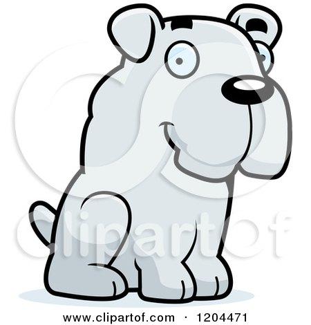 Cute Bulldog Puppy Dog Sitting Posters, Art Prints