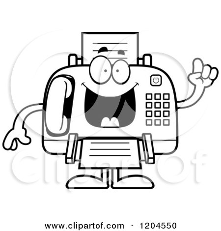Cartoon of a Sick Fax Machine - Royalty Free Vector Clipart by ...