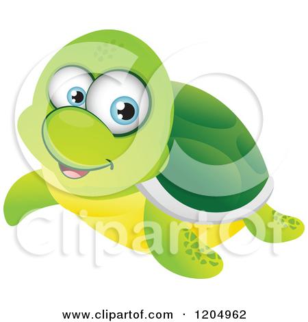Cute Cartoon Turtles With Big Eyes