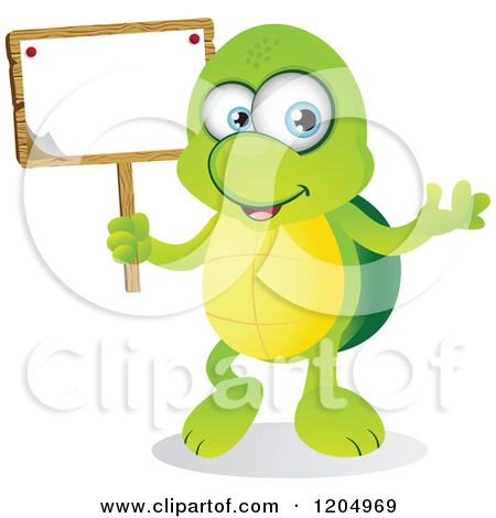 Cute cartoon turtle with big eyes - photo#15