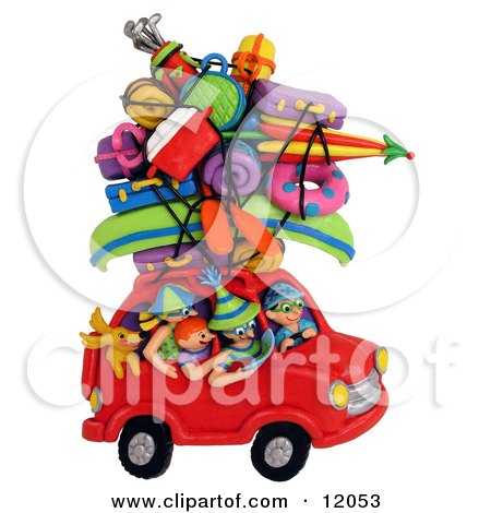 http://images.clipartof.com/small/12053-Clay-Sculpture-Of-A-Family-And-Dog-On-A-Road-Trip-In-A-Red-Car-Piled-High-With-Recreational-Gear-Clipart-Picture.jpg