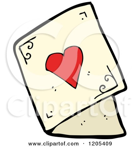 Cartoon Of A Valentine S Day Greeting Card Royalty Free