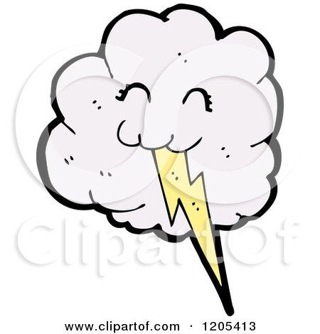 Cloud Cartoon Drawing Cartoon of a Cloud And