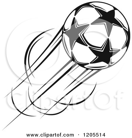 Clipart of a Soccer Ball with Blue Flames - Royalty Free ...
