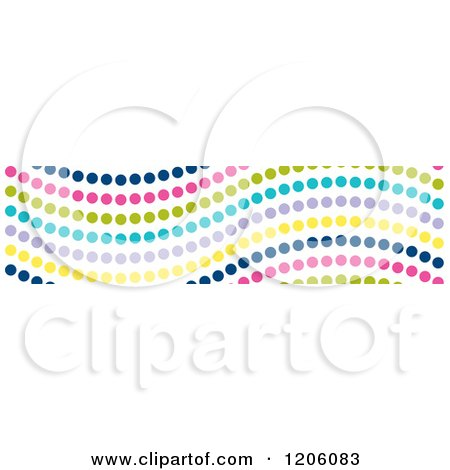 Clipart of a Seamless Colorful Wavy Dot Pattern - Royalty Free Vector Illustration by Cherie Reve
