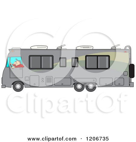 Class A Motorhome Royalty Free Vector Clipart Preview