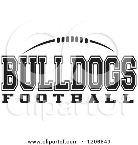 Clipart Of A Black And White American Football And