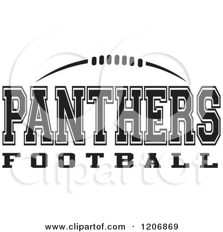 Clipart of a Black and White American Football and ...  Clipart of a Bl...