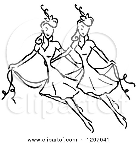 Royalty-Free (RF) Dancing Women Clipart, Illustrations, Vector ...