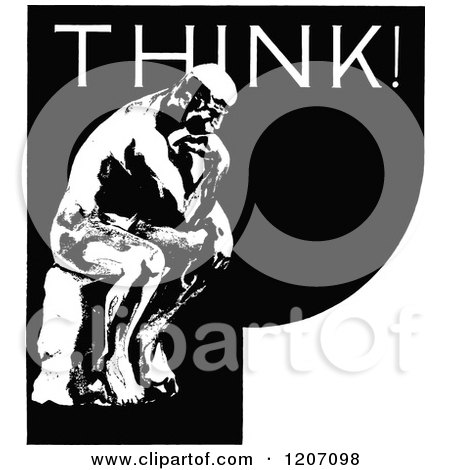 royalty free rf the thinker clipart illustrations vector graphics 1