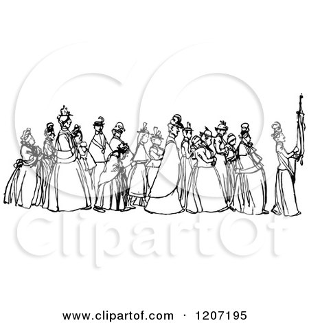 RoyaltyFree RF Procession Clipart