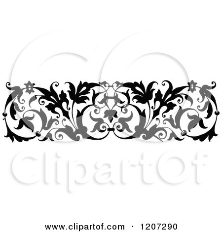 Clipart of a Vintage Black and White Medieval Design - Royalty ...