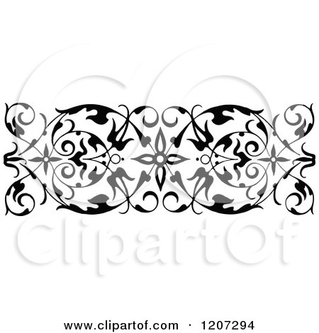 Clipart of a Vintage Black and White Medieval Design - Royalty Free Vector Illustration by Prawny Vintage