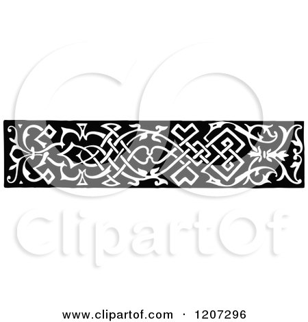 Clipart of a Vintage Black and White Medieval Design - Royalty Free Vector Illustration by Prawny Vintage