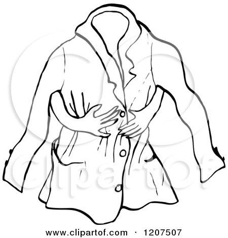 Coat winter jacket clipart black and white men winter