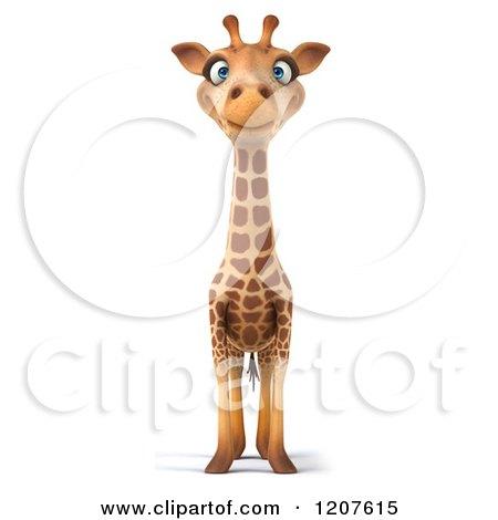 Clipart of a 3d Happy Giraffe - Royalty Free CGI Illustration by Julos