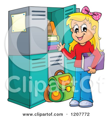 RoyaltyFree RF Clipart of Lockers