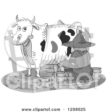 Clipart Cute Cow From Behind Royalty Free Vector