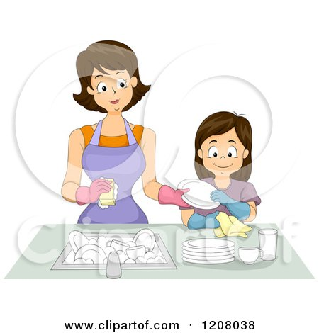 Royalty-Free (RF) Clipart of Drying Dishes, Illustrations ...