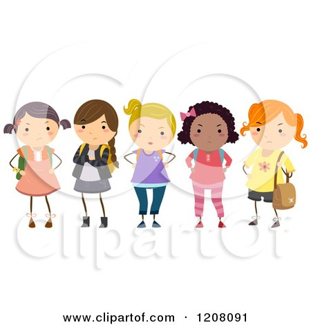 Bully Girl Clipart Diversity posters & art prints Cyber Bullying Clipart