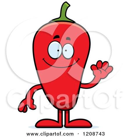 Waving Red Chili Pepper Mascot Posters, Art Prints