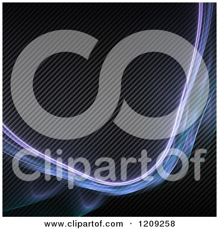 Clipart of a Purple Fractal Plasma Swoosh over Carbon Fiber - Royalty Free Illustration by Arena Creative
