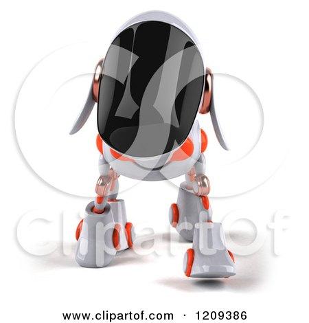 Clipart of a 3d Robotic Dog Walking Forward - Royalty Free CGI Illustration by Julos