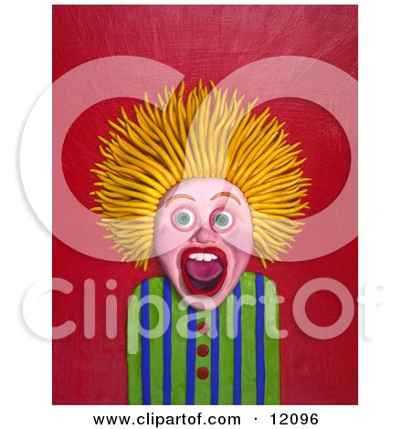 Girl screaming with hair standing up on end Posters, Art Prints