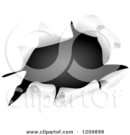 Clipart of Black Through a Ripped Hole - Royalty Free Vector Illustration by Prawny