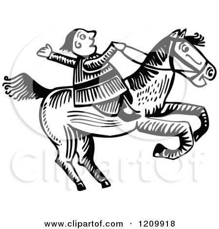 Black And White Man Riding A Horse Posters Art Prints By Interior Wall Decor 1209918