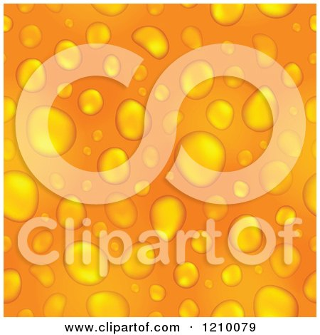 Clipart of an Orange Water Drop Background - Royalty Free Vector Illustration by visekart