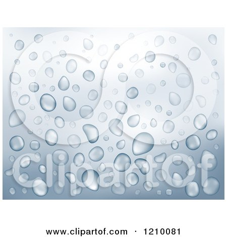 Clipart of a Water Drop Background 2 - Royalty Free Vector Illustration by visekart