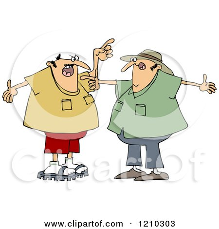 Two White Men Arguing and Gesturing with Their Hands Posters, Art Prints