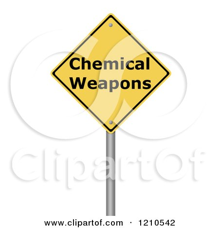 Clipart of a 3d Chemical Weapons Warning Sign - Royalty Free CGI Illustration by oboy