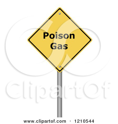 Clipart of a 3d Poison Gas Warning Sign - Royalty Free CGI Illustration by oboy