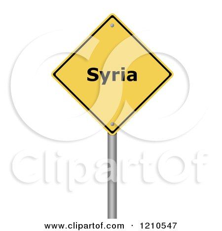 Clipart of a 3d Syria Warning Sign - Royalty Free CGI Illustration by oboy
