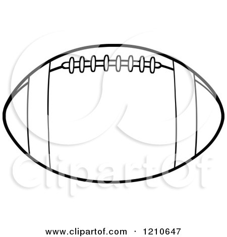 ... and White American Football - Royalty Free Vector Clipart by Hit Toon: www.clipartof.com/portfolio/ctsankov/illustration/black-and-white...