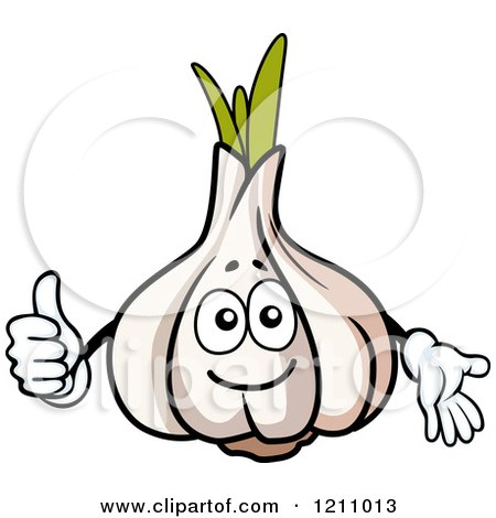 Clipart of a Happy Garlic Mascot - Royalty Free Vector Illustration by Vector Tradition SM