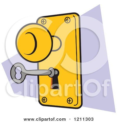 Royalty free rf door handle clipart illustrations vector graphics 1 - Locked door clipart ...