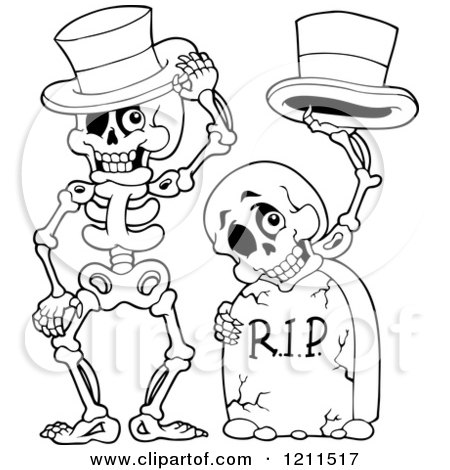 Royalty-Free (RF) Halloween Skeleton Clipart, Illustrations ...