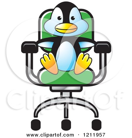 Clipart Of A Happy Penguin Dancing Royalty Free Vector