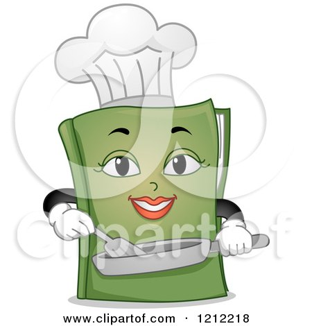 Green Female Chef Book Cooking Posters, Art Prints