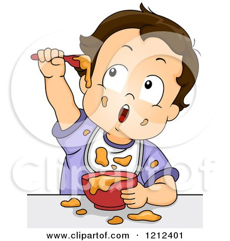 Royalty-Free (RF) Baby Food Clipart, Illustrations, Vector Graphics #1