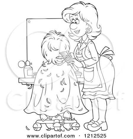 Hair salon coloring pages ~ Royalty-Free (RF) Hair Salon Clipart, Illustrations ...