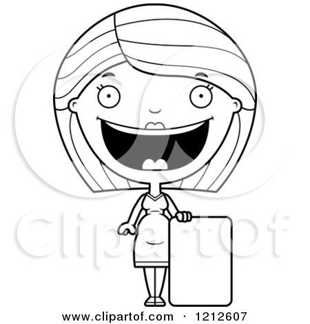 Cartoon Of A Happy Pregnant Woman