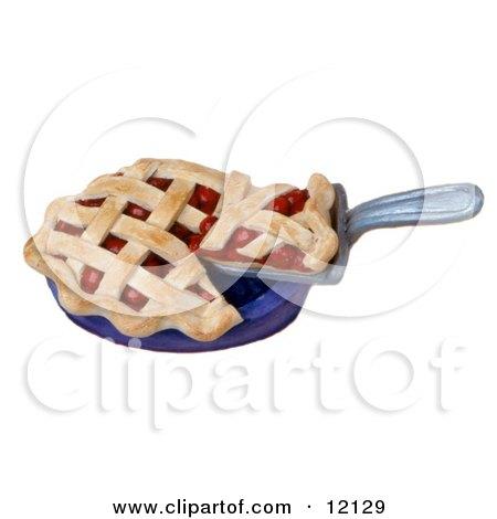 3d Cherry Pie With Latticework Crust Posters, Art Prints