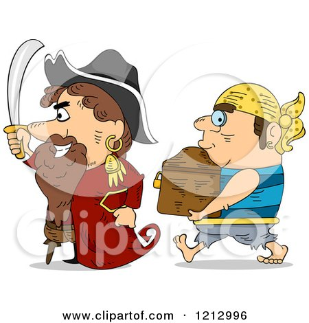 Cartoon Of A Background Of Pirate Treasures Royalty Free