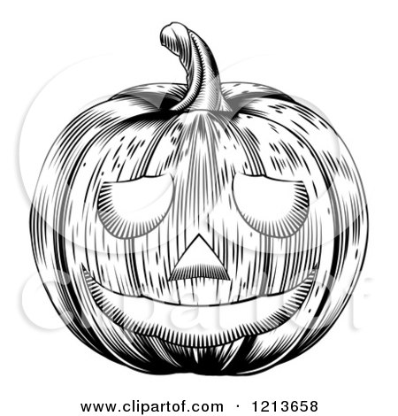 Free Black And White Jack O Lantern Clipart